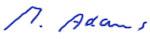 Unterschrift Michael Adams