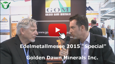 Video-Interview mit Golden Dawn Minerals von der Edelmetallmesse 2015