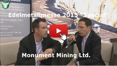 Video-Interview mit Monument Mining von der Edelmetallmesse 2015