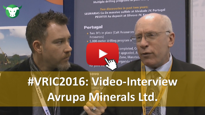 VRIC2016: Video-Interview mit Paul Kuhn von Avrupa Minerals Ltd.