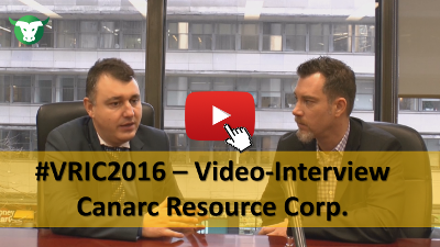 VRIC2016: Video-Interview mit Catalin Chiloflischi von Canarc Resource Corp.
