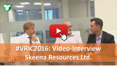 VRIC2016: Video-Interview mit Skeena Resources Ltd.