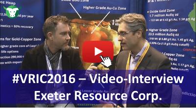 VRIC2015: Video-Interview mit Wendell Zerb von Exeter Resource Corp.