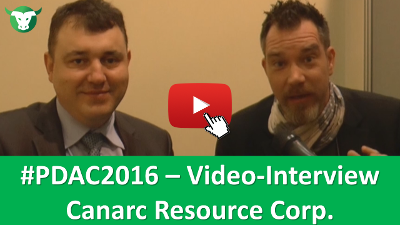 PDAC2016: Video-Interview mit Catalin Chiloflischi von Canarc Resource Corp.