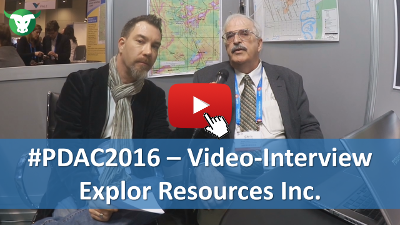 PDAC2016: Video-Interview mit Chris Dupont von Explor Resources Inc.