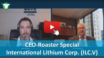 CEO-Roaster mit International Lithium Corp.
