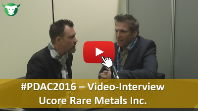 #PDAC2016: Video-Interview mit Jim McKenzie von Ucore Rare Metals Inc.