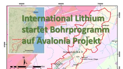 International Lithium und Ganfeng Lithium nehmen Bohrungen im Lithiumprojekt Avalonia in Irland auf