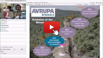 CEO-Roaster-Video-Webinar Avrupa Minerals Ltd.