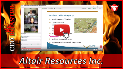 Altair Resources im CEO-Roaster Interview: Lithium in Quebec