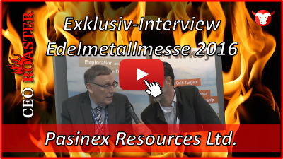 Pasinex Resources Ltd.: Exklusiv-Interview mit Steve Williams von der Edelmetallmesse 2016