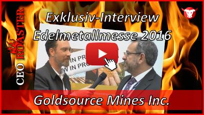 Goldsource Mines Inc.: Exklusiv-Interview mit Yannis Tsitos von der Edelmetallmesse 2016 in München