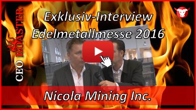 Nicola Mining Inc.: Exklusiv-Interview mit Peter Espig von der Edelmetallmesse 2016 in München