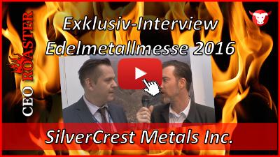 SilverCrest Metals Inc.: Exklusiv-Interview mit Michael Rapsch von der Edelmetallmesse 2016