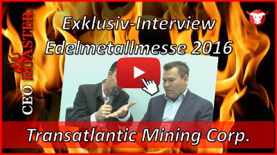 Transatlantic Mining Corp.: Exklusiv-Interview mit Rob Tindall von der Edelmetallmesse 2016 in München