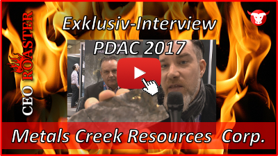 Metals Creek Exploration Corp.: Exklusiv-Interview mit Sandy Stares von der PDAC 2017