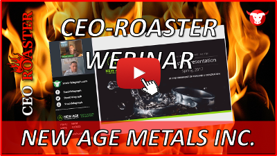 CEO-Roaster Webinar mit New Age Metals Inc.