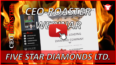 CEO-Roaster Webinar mit Five Star Diamonds Ltd.
