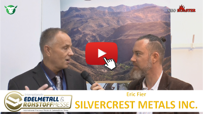 Video-Interview mit SilverCrest Metals von der #Edelmetallmesse2017